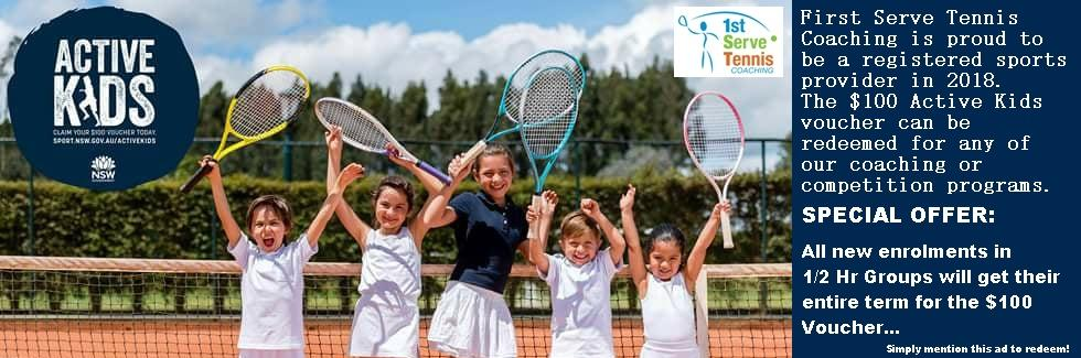 REDEEM YOU ACTIVE KIDS VOUCHERS FOR COACHING AND COMPETITIONS
