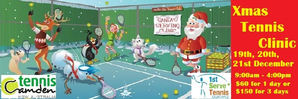 XMAS TENNIS CLINIC - 19th/20th/21st December - 9:00am-4:00pm